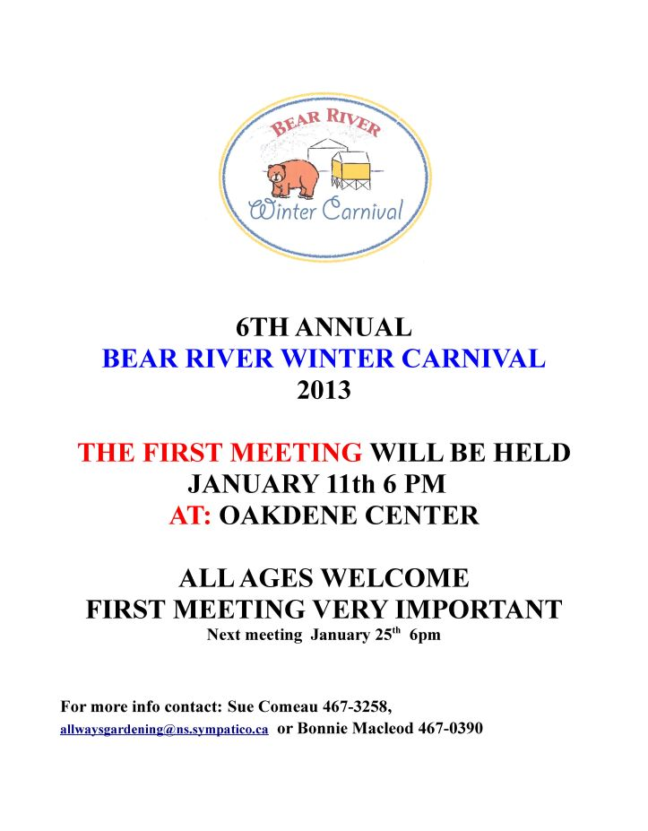 Winter Carnival  Poster 1st meeting 2013