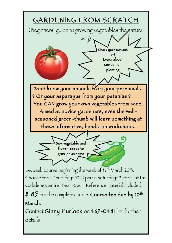 GARDENING FROM SCRATCH poster
