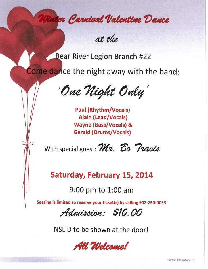 Winter Carnival Valentine Dance - Feb 15, 2014