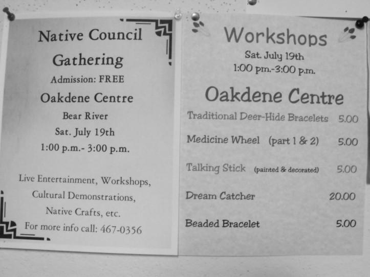 Native Workshops Saturday