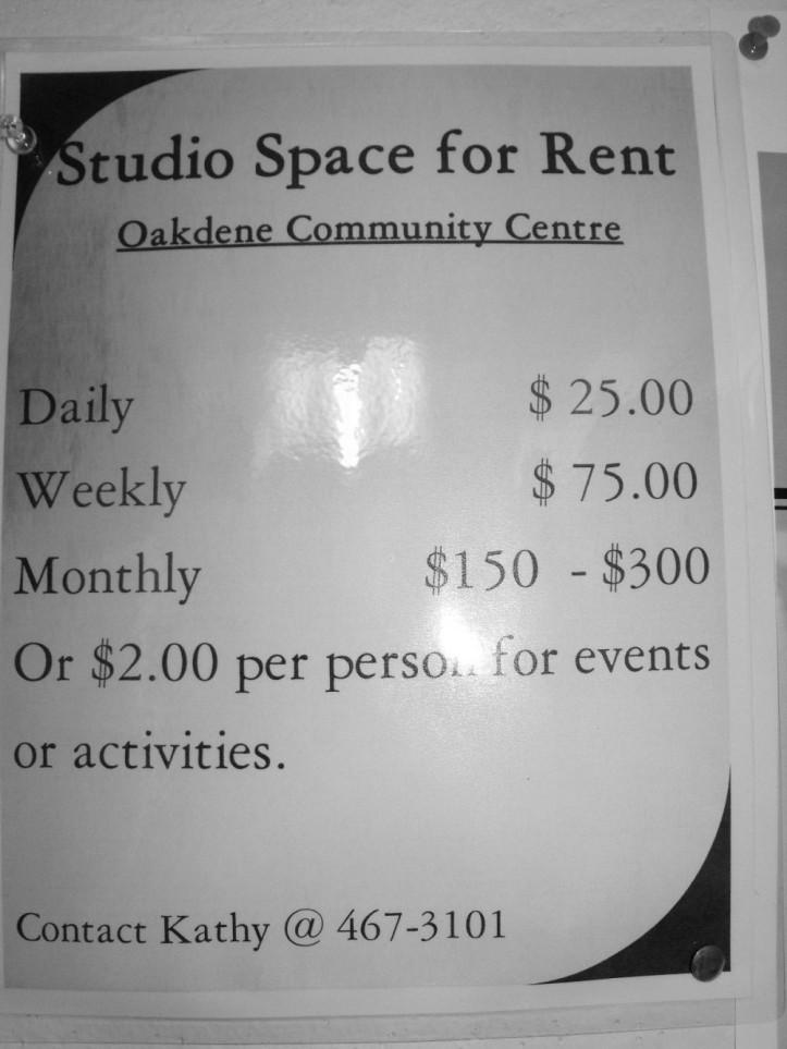 studio cost poster