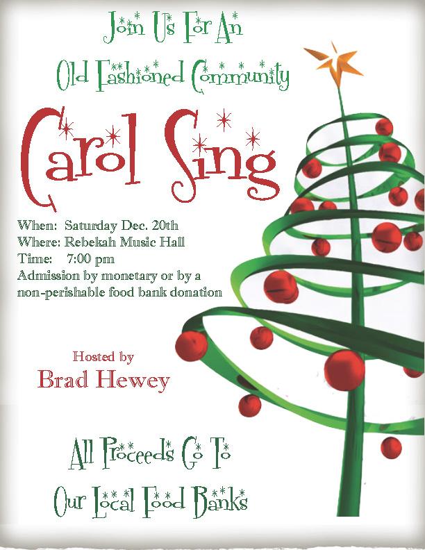Christmas Carol SIng Poster 2014