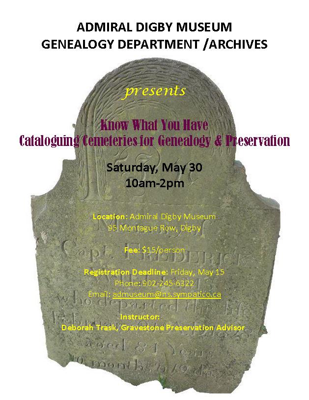 Cataloguing Cemeteries 2015