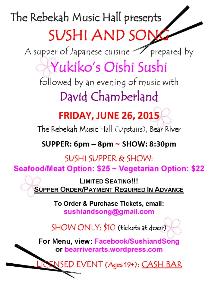 Poster Sushi and Song