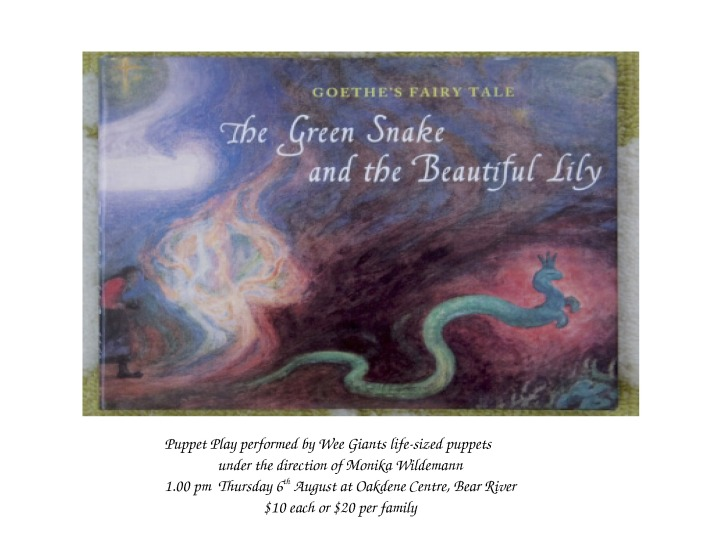 Green snake poster