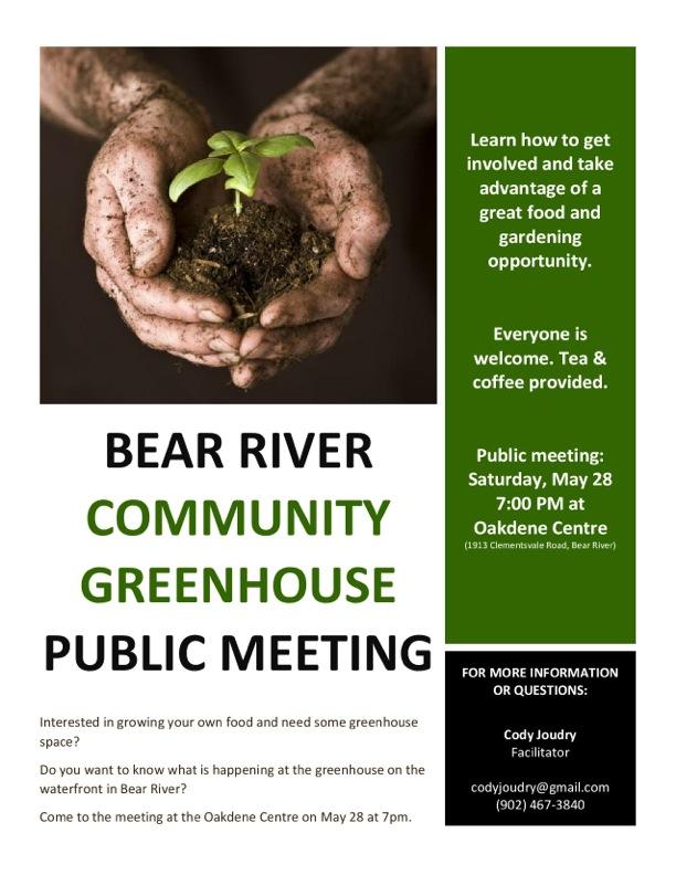 Bear River Community Greenhouse Public Meeting May2016 (image)