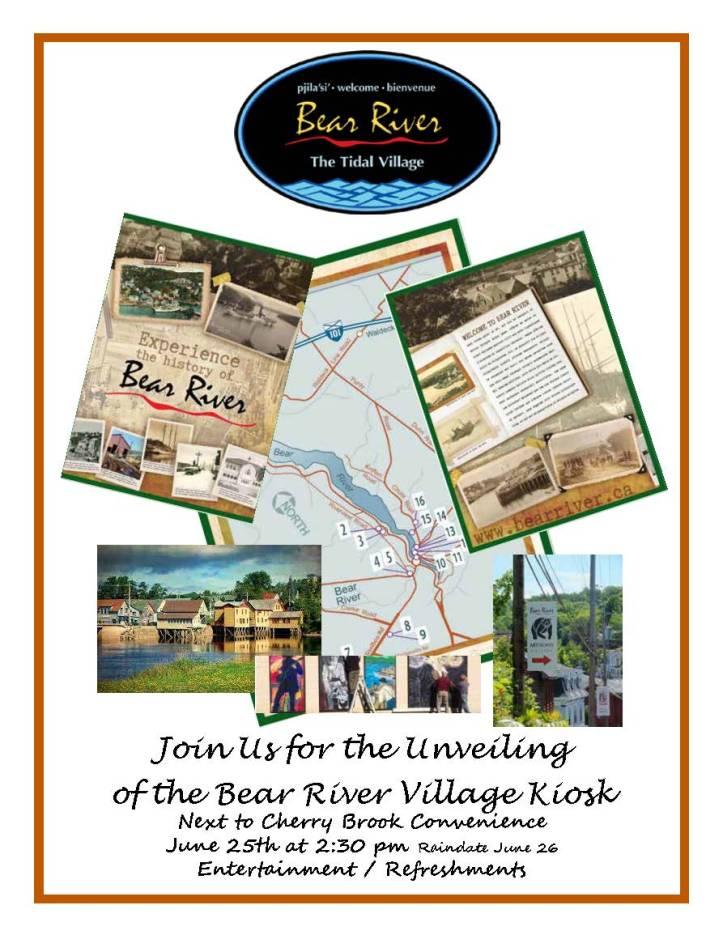 Unveiling June 25th  Bear River Kiosk