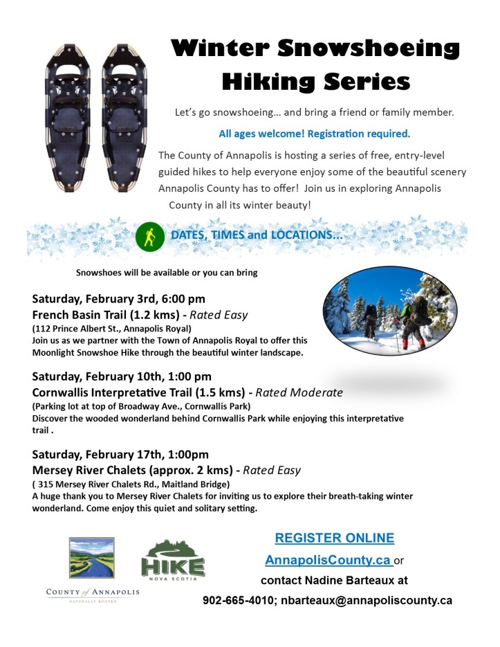 2018_Winter_Snowshoeing_Hiking_Series_poster